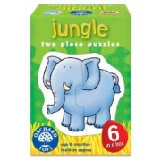 Set 6 puzzle Jungla 2 piese JUNGLE