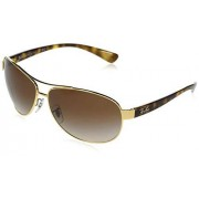 Ray-Ban RB3386 Aviator anteojos de Sol (67 mm), Color café