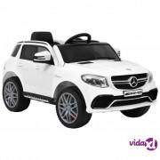 vidaXL Dječji automobil Mercedes Benz GLE63S plastični bijeli