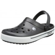 Crocs Men's Crocband II.5 Clog Black and Charcoal Rubber Clogs and Mules - M12