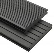 vidaXL Panneaux de terrasse WPC solides et accessoires 15 m² 4 m Gris