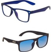 Vast Sports, Wrap-around Sunglasses(Blue)