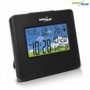 Statie Meteo Wireless cu Ceas Digital Afisaj Umiditate Temperatura Data Culoare Negru
