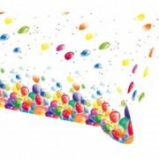 Geen Feestelijke tafelkleed met ballonnen opdruk plastic 180cm