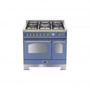 Lofra Rlvd96mfte/ci Lavanda 90x60 Cucina Con Piano In Acciaio Satinato - 5 Fuochi A Gas Di Cui 1 Tripla Corona - 2 Forni (Forno