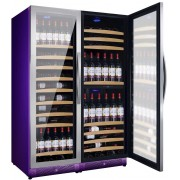 Vitrina de vinuri Nevada Color NW300T-SS-C-4001, 300 sticle, 3 zone, Violet (RAL 4001)