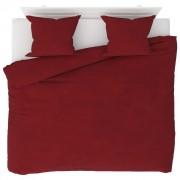 vidaXL Set husă pilotă, 3 piese, roșu vin, 240x220/60x70 cm, fleece