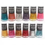 Makeup Mania Exclusive Nail Polish Set Of 12 Pcs (Multicolor Set # 71)