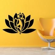 Wall Sticker Yoga Design (Cover Area :- 30 X 20 inch)