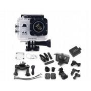Camera video sport profesionala 4K Ultra HD, Wi-Fi rezistenta la apa, culoare Argintiu