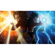 SSG4 goku and vegeta sticker poster|dragon ball z poster|anime poster|size:12x18 inch|multicolor