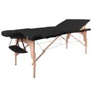inSPORTline Fa Masszázs Asztal InSPORTline Japane - 3 Részes 9408/fekete