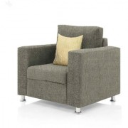 furniture4U - Fully Upholstered Single-Seater Sofa - Premium Valencia Sand