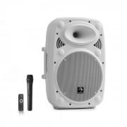 "Auna Streetstar 10 Mobile equipo PA 10"" (25,5cm) Woofer Micro UHF 400 W máx. Blanco (Sky2-199.517)"