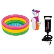 Combo of Hit Me Bop Bag 2 Feet Baby Swimming Pool and Hand Pump