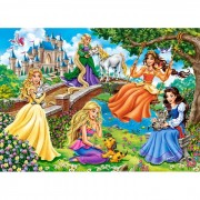 Puzzle Castorland - Princesses In Garden, 180 piese (18383)