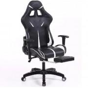 Scaun Gamer Sintact Suport pentru picioare alb-Aveți cel mai recent design, suprafață chiar mai confortabilă!