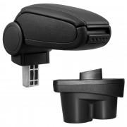 Подлакътник [pro.tec]® Opel Corsa E с контейнер за съхранение, Изкуствена кожа/Черен