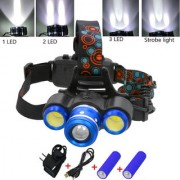 Rechargeable Zoomable Cree Led Headlamp Head Lamp Light Torch Flashlight - 37
