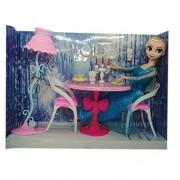 Frozen Glam Dining Room Furniture & Frozen Doll Set (Elsa)