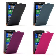 Nokia Lumia 625 Flip2 Кожен Калъф + Скрийн Протектор