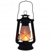 Lampa lampka LATARNIA METALOWA lampion z ruchomym płomieniem LED