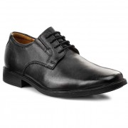 Обувки CLARKS - Tilden Plain 261103507 Black Leather