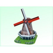 Dutch Windmill In Holland 3 D Construction Puzzle Kit [Toy]