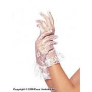 Korta spetshandskar med volang