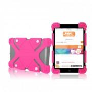 Funda Jyx Accesorios Universal Tablet 7 Pulgadas Rubber Uso Rudo - Rosa