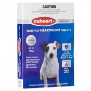 Nuheart - Generic Heartgard Plus For Small Dogs Upto 25lbs (Blue) 6 Tablet + 1 Free Mediworm Plus