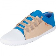 Fausto MenS Light Blue Sneakers Lace-Up Shoes (FST 3002 SKY BLUE)