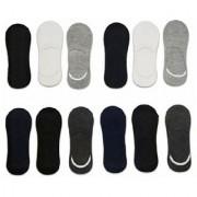 Manan fashion multi color loafer socks for unisex ( pack of 12 )