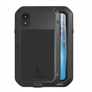 LOVE MEI Shockproof Splash-proof Dust-proof Defender Metal Case for iPhone XR 6.1 inch - Black