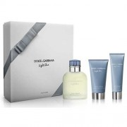 Dolce & Gabbana Light Blue 125ml Apă De Toaletă + 75ml After Shave Balsam + 50ml Gel de duș Set
