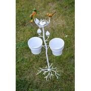 Ghiveci pentru flori din fier - decoratiune pentru gradina