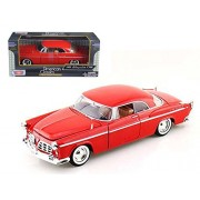 Motor Max 1955 Chrysler C300, Red - Motormax 73302 1/24 scale Diecast Model Toy Car