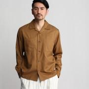 【SALE 60%OFF】タケオ キクチ TAKEO KIKUCHI テンセルコットンオープンカラーシャツ (ベージュ)
