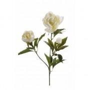 Merkloos Witte pioenroos kunstbloem op steel 70 cm