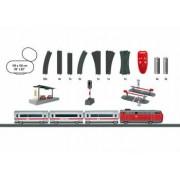 Trenulet electric de calatori Intercity cu 1 locomotiva 3 vagoane si circuit sine Marklin