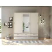 CONFORAMA Armoire 3 portes + 6 tiroirs LAKE coloris chêne sonoma structuré