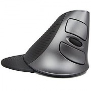 J-DEAL Scroll Endurance Wireless Mouse Ergonomic Vertical USB Mouse with Adjustable Sensitivity (600/1000/1600 DPI) Removable Palm Rest & Thumb Buttons - Reduces Hand/Wrist Pain