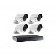 Kit Seguridad Hikvision Dvr 1080p + 4 Camara Turbo Hd Bullet