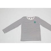 WOOD WOOD Kids Kim Longsleeve Tee Off White/ Navy Stripes