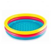 Merkloos Gekleurd rond opblaasbaar zwembad klein 86 cm baby/kinderen