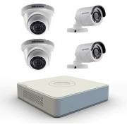 Hikvision CCTV Set 4 Channel DVR+ 2 Bullet IR + 2 Dome IR 600 TVL Camera