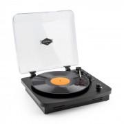 Auna TT370 Tourne-disque Platine vinyle rétro haut-parleurs intégrés USB MP3 AUX - noir