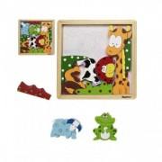 Joc puzzle Copii Have Fun din lemn Animale