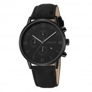 Fashion And Casual Luxury Fashion Faux Leather Mens Blue Ray Glass Quartz Analog Watches With Calendar Jul23