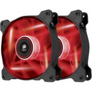 Ventilator Corsair Air Series AF120 LED red quiet edition high airflow 120mm fan. Size: 120mm x 25mm, Voltage: 7V 12V, Airflow: 52,19 CFM, sound level: 25,2 dBA, speed: 1500 RPM. Twin retail pack